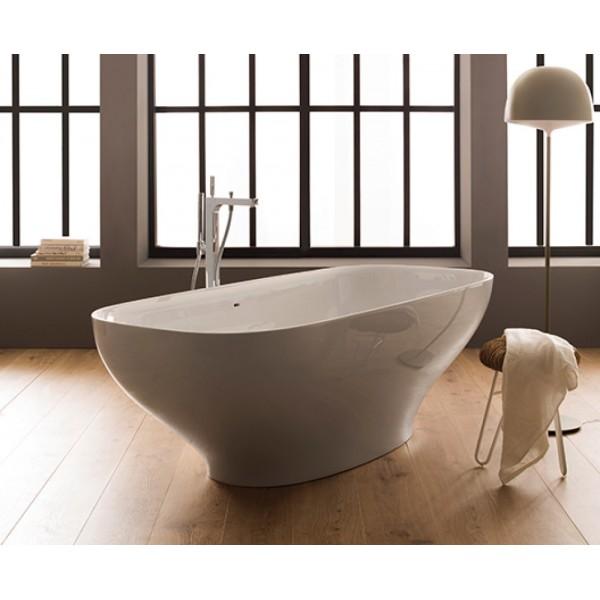 Vasca da bagno in pietraluce 180x84 free-standing Globo Genesis