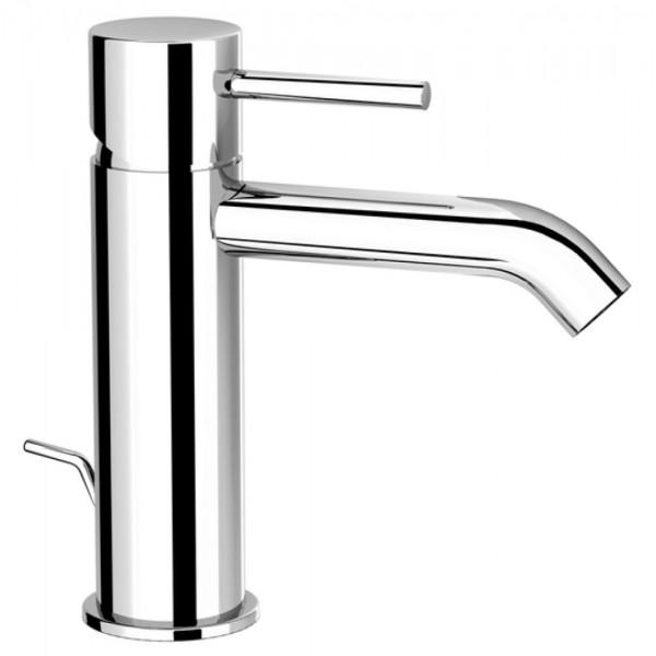 Miscelatore monocomando lavabo Fir italia cleo mini 84 altezza 14,5 cm con scarico