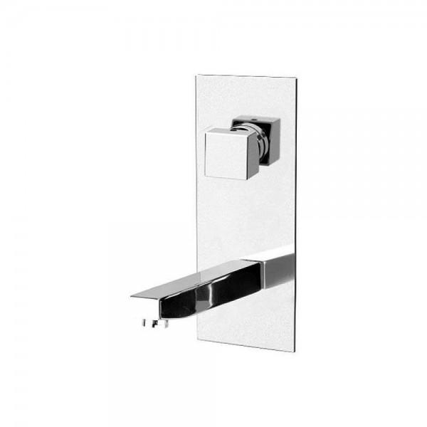 Miscelatore a incasso per lavabo con piastra verticale Oxy Daniel