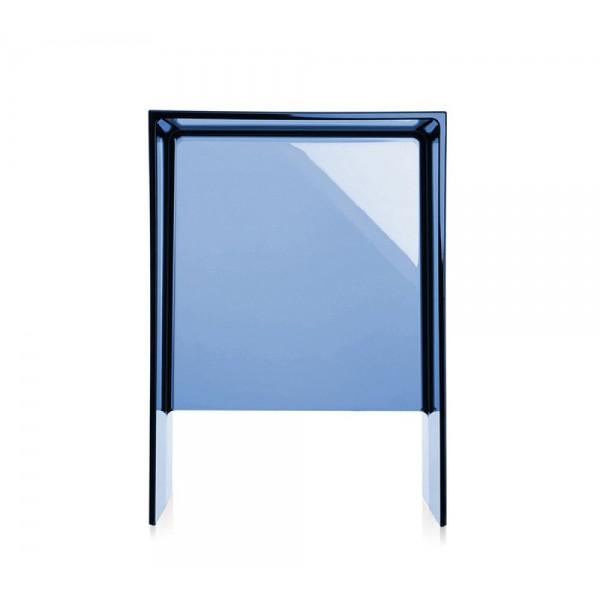 "Sgabello/tavolino ""monolite"" in plexiglass blu notte"