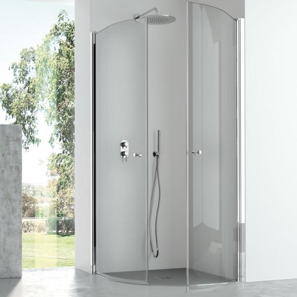Box doccia semicircolare 90x90 cristallo trasparente Csa camilla