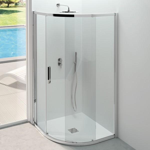 Box doccia semicircolare 90x90 cristallo trasparente Csa erica