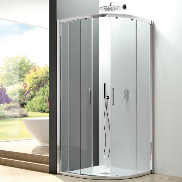 Box doccia semicircolare 80x80 cristallo trasparente Csa erica c2fs