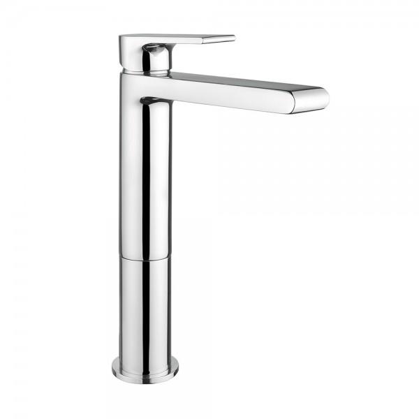 Miscelatore mocomando lavabo alto Bugnatese simple altezza 24 cm con scarico