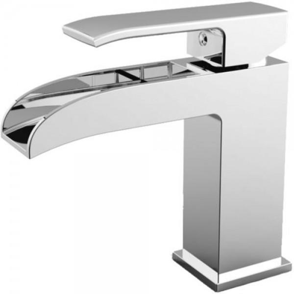 Miscelatore monocomando lavabo a cascata Paffoni level con scarico clic-clac
