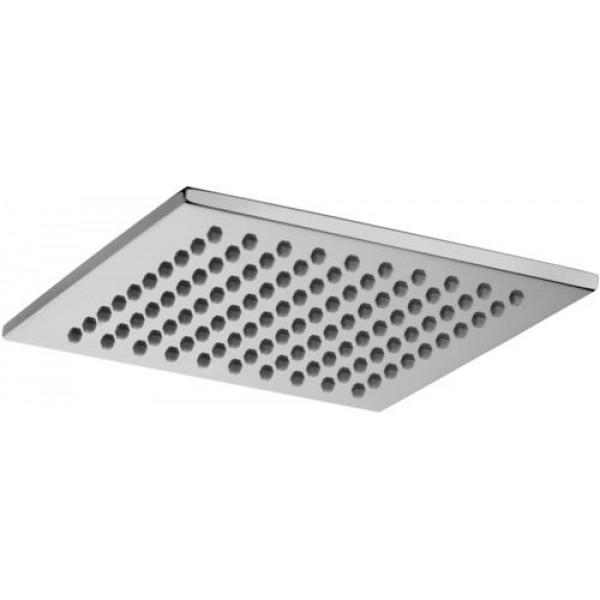 Soffione doccia quadrato in metallo 200x200 mm paffoni syncro