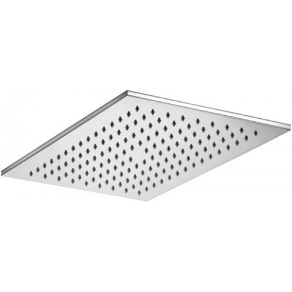 Soffione doccia rettangolare in metallo 340x220 mm paffoni city
