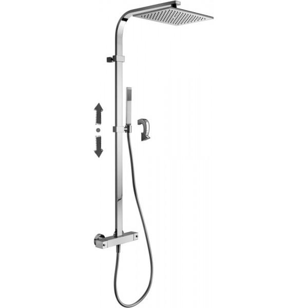 Colonna doccia fissa con supporto scorrevole Paffoni city