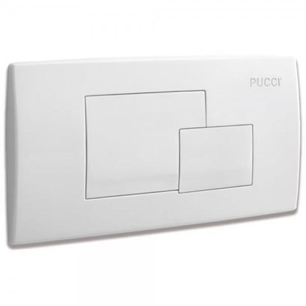 Placca di comando Pucci eco tasti quadrati finitura bianca 340x180mm