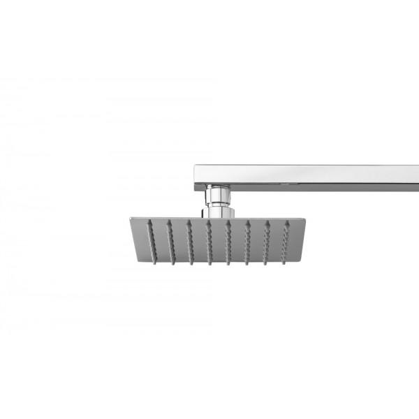 Soffione doccia in acciaio inox quadrato 150x150 mm Ares square 15
