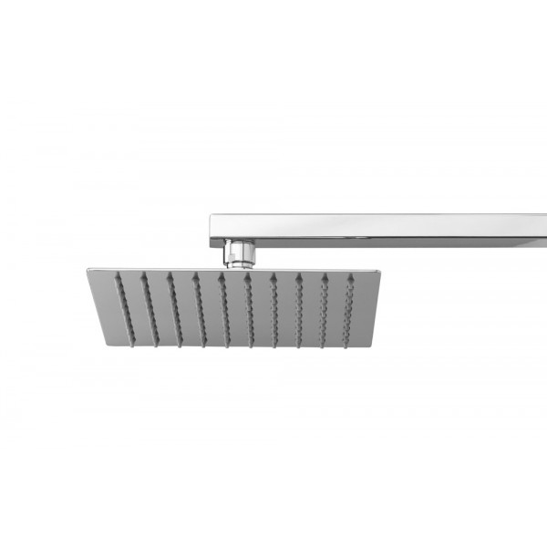 Soffione doccia in acciaio inox quadrato 200x200 mm Ares square 20