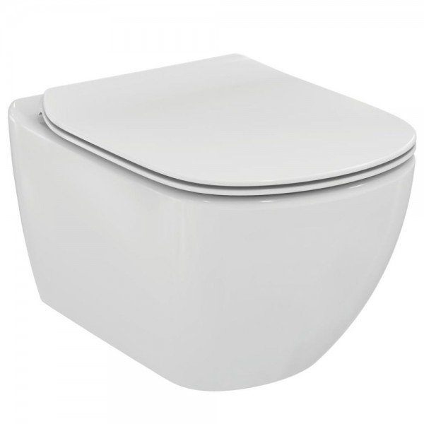 Vaso sospeso acquablade idealstandard tesi completo di sedile slim rallentato