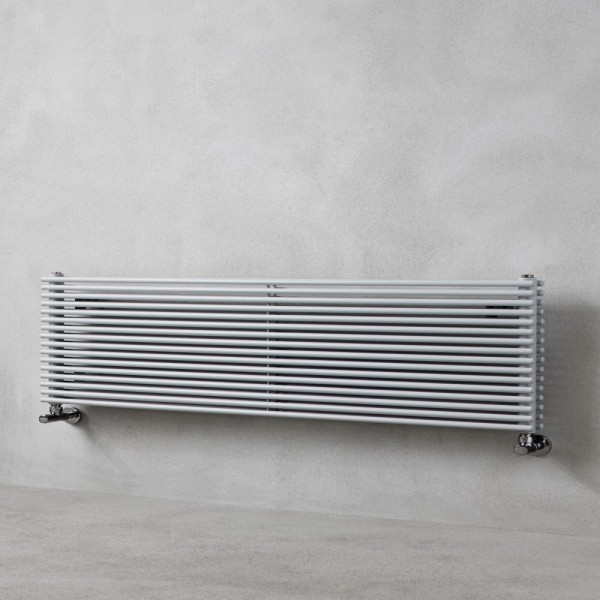 Radiatore in acciaio tubolare da 16mm con tubi tondi orizzontali Caleido nibbio